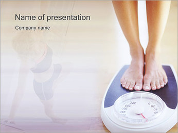 Weight Loss Sjablonen PowerPoint presentatie