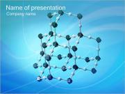 Modelo Molecular Plantillas de Presentaciones PowerPoint