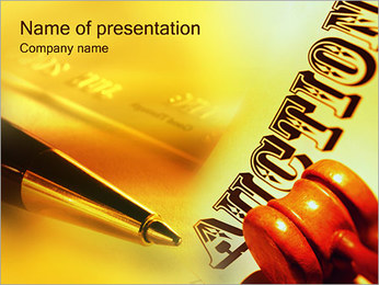 Auctions PowerPoint Templates - Slide 1