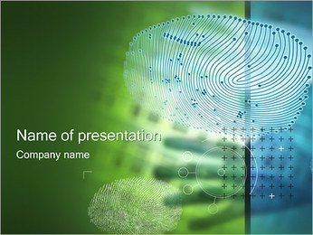 Finger Print PowerPoint Template