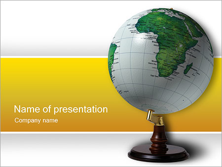 Green Globe Powerpoint Template Backgrounds Google Slides Id
