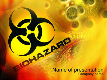 Biohazard Modèles des présentations  PowerPoint