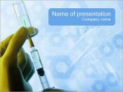 注射 PowerPointプレゼンテーションのテンプレート