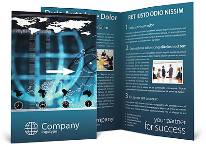 world business brochure template
