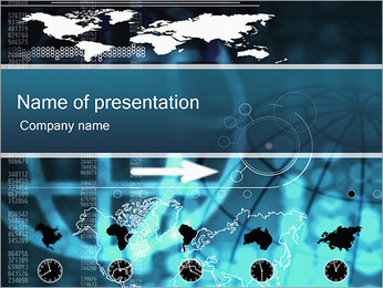 World Business Sjablonen PowerPoint presentatie