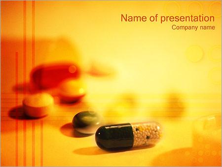 Les comprimés et les pilules Modèles des présentations  PowerPoint