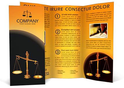 Judicial Brochure Template