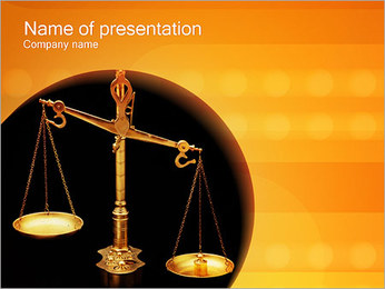 Judicial PowerPoint Template