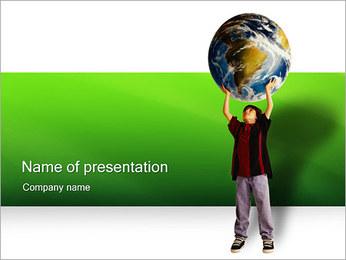 Het ontdekken van de wereld Sjablonen PowerPoint presentatie