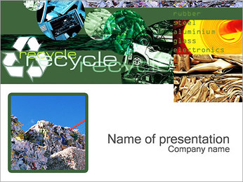Recycle Industry Sjablonen PowerPoint presentatie