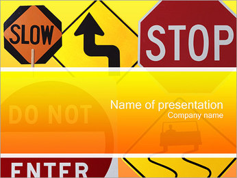 Road Sign PowerPoint Template