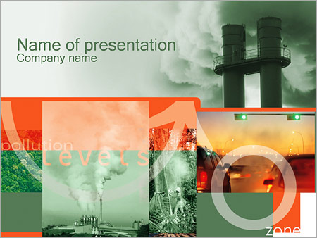 Radiation powerpoint template smiletemplates free download pollution powerpoint template toneelgroepblik Gallery