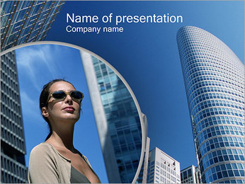 Turyści Szablony prezentacji PowerPoint