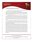 Heart Model Letterhead Template