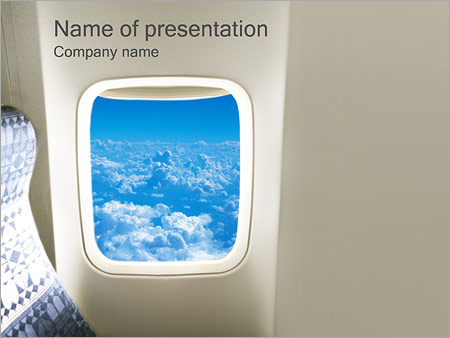 Airplane Powerpoint Template Backgrounds Google Slides Id