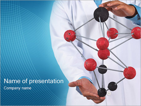 Modèle moléculaire Modèles des présentations  PowerPoint