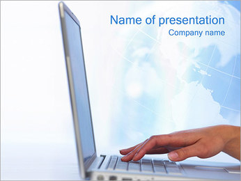 Laptop PowerPoint presentationsmallar