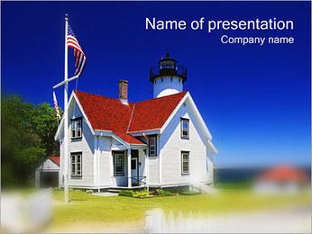 ハウス PowerPointプレゼンテーションのテンプレート