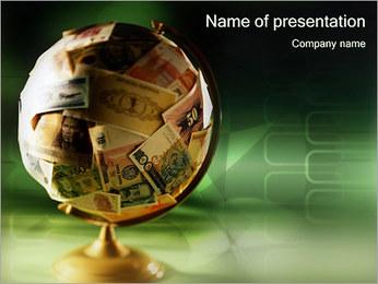 Dinero Globe Plantillas de Presentaciones PowerPoint