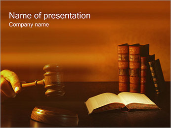 Judge PowerPoint Template