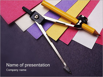 Pair of Compasses PowerPoint Template