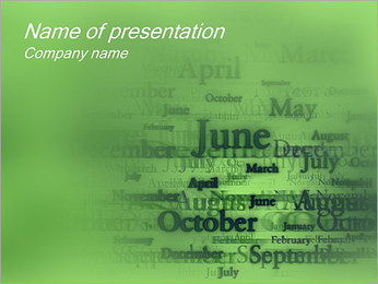 Months PowerPoint Template