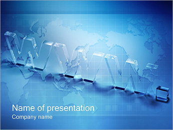 World Wide Web PowerPoint Template - Slide 1