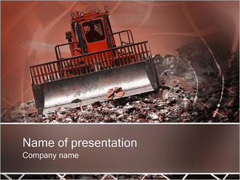 Waste Products PowerPoint Template