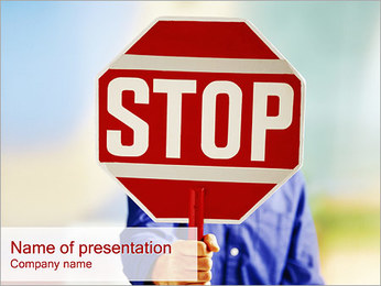 STOP PowerPoint Template