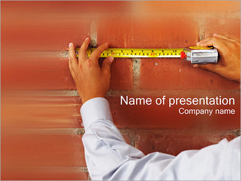 Medindo Modelos de apresentações PowerPoint - Slide 1