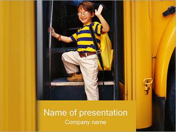 School Bus I pattern delle presentazioni del PowerPoint
