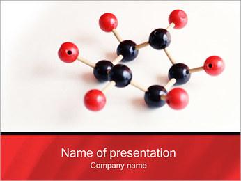 Modello molecolare I pattern delle presentazioni del PowerPoint
