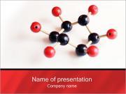 Modelo molecular Modelos de apresentações PowerPoint
