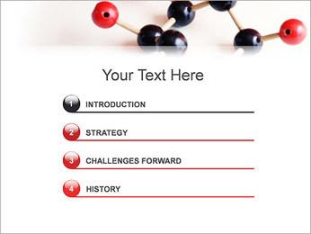 Modèle moléculaire Modèles des présentations  PowerPoint - Diapositives 3