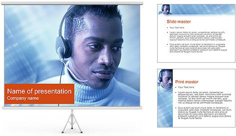 Call Center Plantillas de Presentaciones PowerPoint