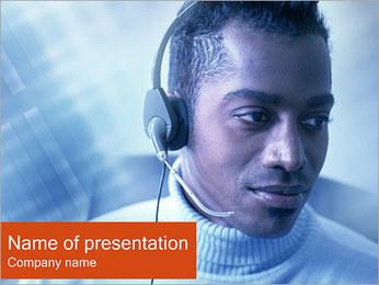 Call Center Plantillas de Presentaciones PowerPoint - Diapositiva 1