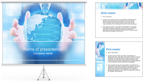 Crystal Globe PowerPoint Template