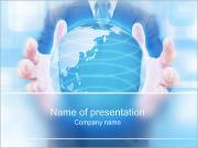 Crystal Globe Sjablonen PowerPoint presentaties