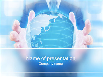 Crystal Globe PowerPoint Templates - Slide 1