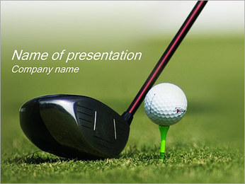 Golf PowerPoint presentationsmallar