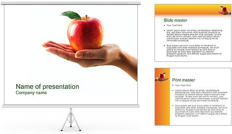 Red Apple Modèles des présentations  PowerPoint