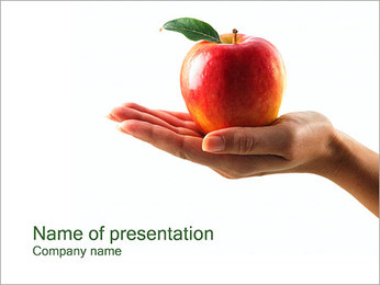 Red Apple PowerPoint Template