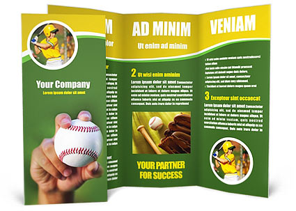 baseball brochure template