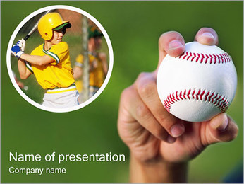 Baseball I pattern delle presentazioni del PowerPoint
