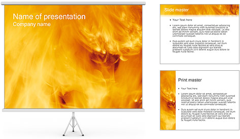 Презентаций шаблоны огонь для