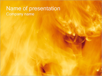 Fire PowerPoint presentationsmallar