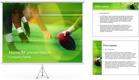 American Football PowerPoint Template Backgrounds ID 0000000258 – Football Powerpoint Template