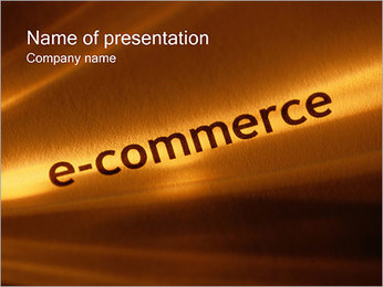 E-Commerce PowerPoint-Vorlagen