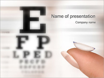 Contact Lenses PowerPoint Template
