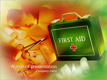 first aid powerpoint template & backgrounds id 0000000264, Powerpoint templates